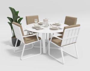 Фото-Садовая мебель Primavera model 2 white beige Gardenini