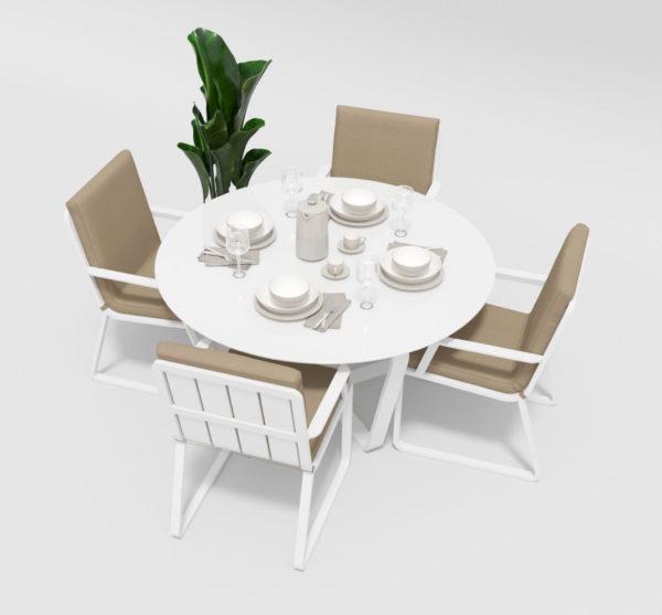 Садовая мебель алюминий Primavera model 2 white beige фото 2