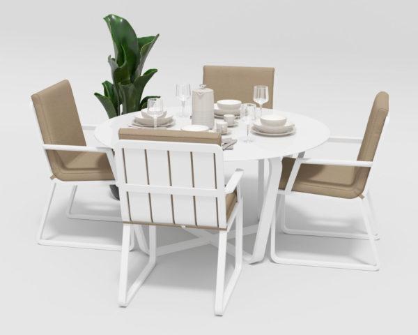 Садовая мебель Primavera model 2 white beige фото 3