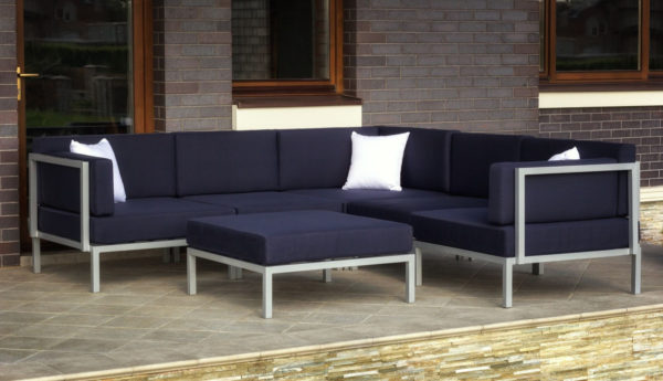 Фото-Садовая мебель Serenita silver dark blue