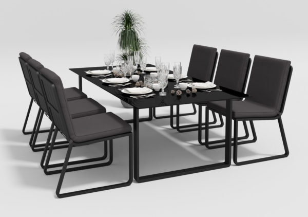 Садовая мебель Voglie 220 model 1 carbon anthracite