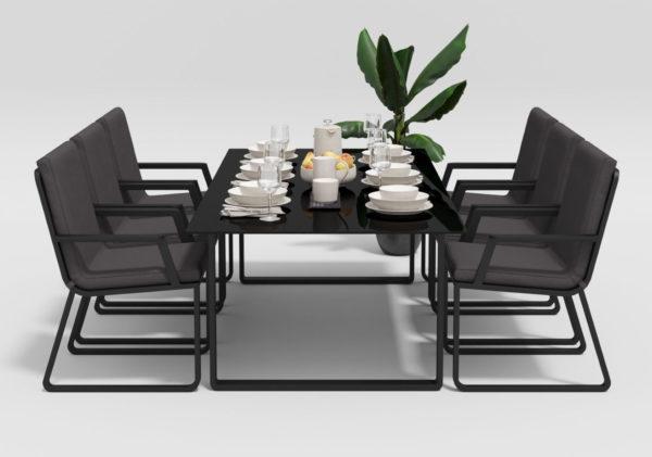 Садовая мебель Voglie 220 model 2 carbon anthracite Gardenini