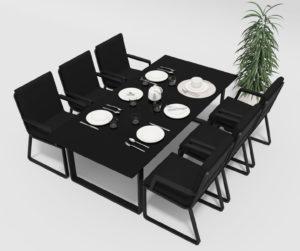 Садовая мебель Voglie 220 model 2 carbon black фото 2