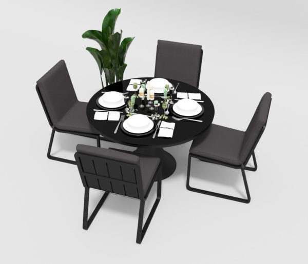 Садовая мебель алюминиевая Voglie Round carbon anthracite фото 2