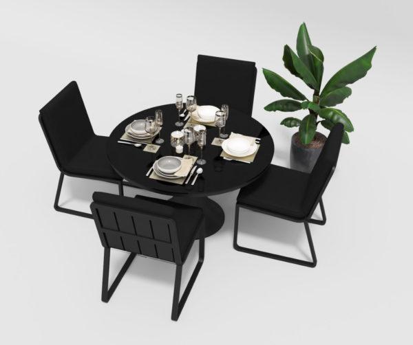 Садовая мебель Voglie Round carbon black Gardenini