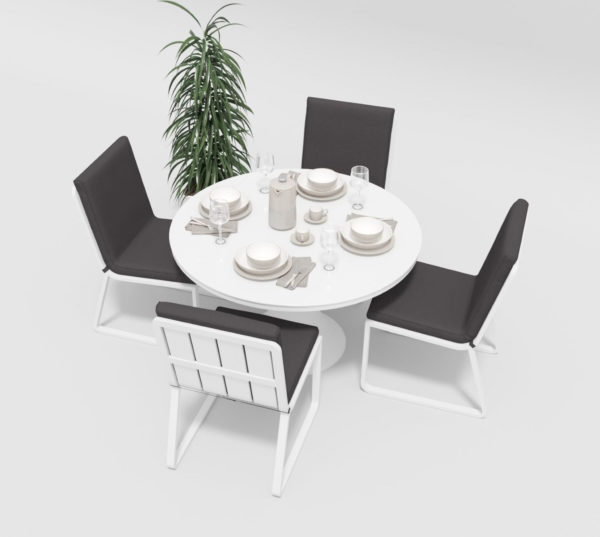 Фото-Садовая мебель Voglie Round white anthracite Gardenini