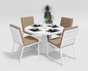 """Фото-Садовая мебель """"Voglie"""" model Round white beige"""