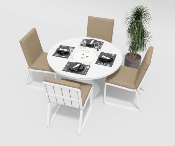 "Фото-Садовая мебель ""Voglie"" model Round white beige Gardenini"