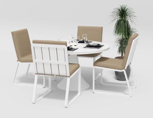 Садовая мебель Voglie Round white beige фото 3