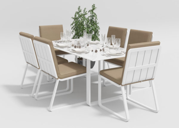 Садовая мебель Voglie model 1 white beige фото 1