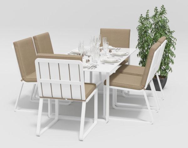 Садовая мебель Voglie model 1 white beige фото 3