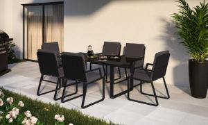 Садовая мебель Voglie model 2 carbon anthracite фото 1
