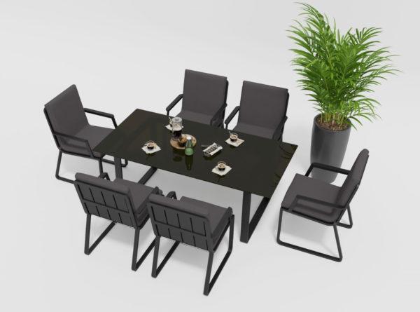 Садовая мебель Voglie model 2 carbon anthracite бренд Garednini