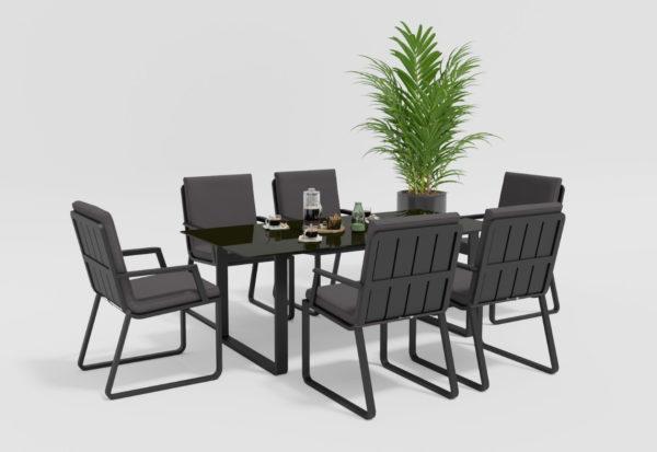 Садовая мебель обеденная Voglie model 2 carbon anthracite фото 3