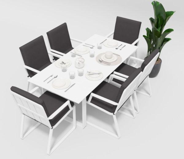 Садовая мебель Voglie model 2 white anthracite Garedenini