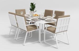Садовая мебель Voglie model 2 white beige фото 1