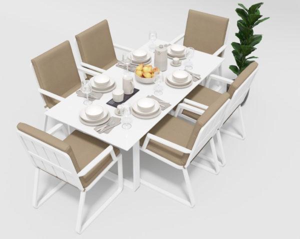 Садовая мебель Voglie model 2 white beige фото 2