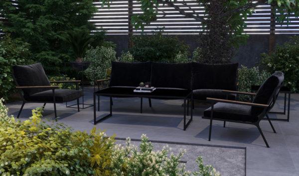 Садовая мебель алюминиевая Calma Lounge black