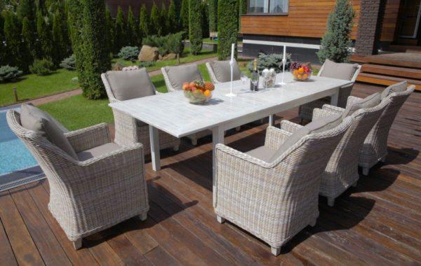 Фото-Toscana 8 grey Плетеная мебель ротанг