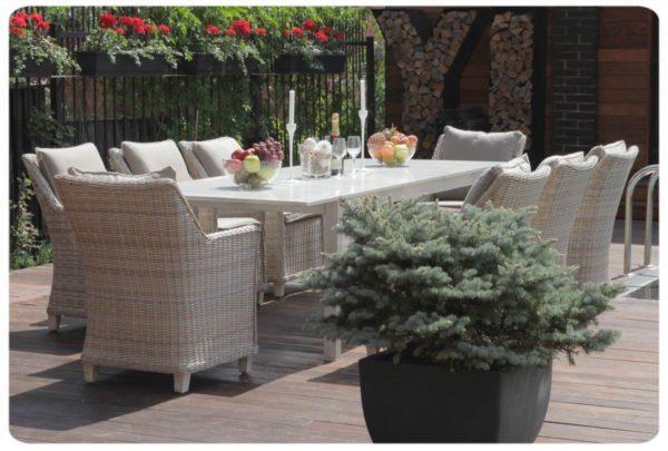 Фото-Toscana 8 grey Садовая мебель обеденная ротанг