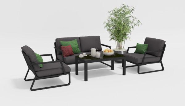 Фото-VOGLIE Lounge carbon Комплект мебели на веранду
