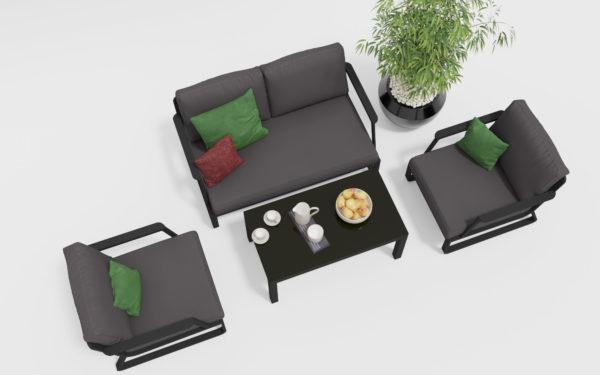 Фото-VOGLIE Lounge carbon Садовая мебель из алюминия