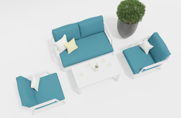 VOGLIE Lounge white Садовая мебель Gardenini