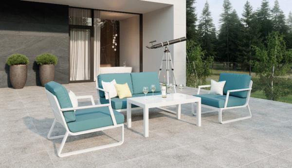 VOGLIE Lounge white Садовая мебель алюминиевая