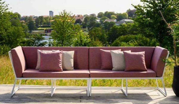 Фото-Vence Садовая мебель алюминиевая Brafab белый красный