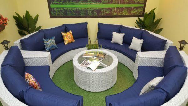 Фото-Andromeda white Садовая мебель из искусственного ротанга