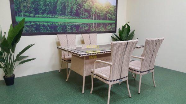 Фото-Aura beige 4 Плетеная мебель обеденная