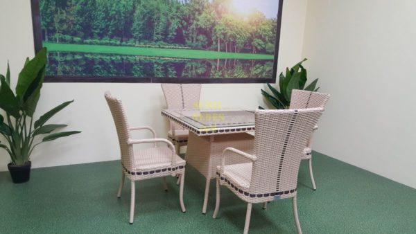 Фото-Плетеная мебель столовая Aura beige 4