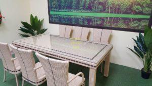 Фото-Aurora beige 6 Садовая мебель из ротанга