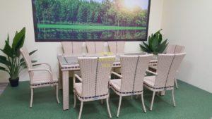 Фото-Aurora beige 8 Плетеная мебель ротанг искусственный