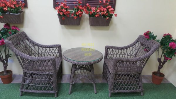 Фото-Beatrix beige Плетеная мебель cafe set