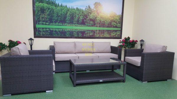 Фото-Louisiana brown set 4 Плетеная мебель
