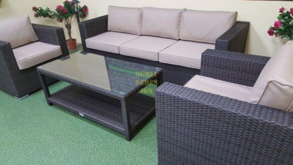 Фото-Louisiana brown set 4 Ротанг мебель искусственная