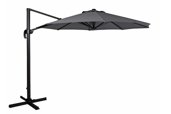 1480-73-07 Linz 300х300 антрацит серый Садовый зонт на боковой опоре