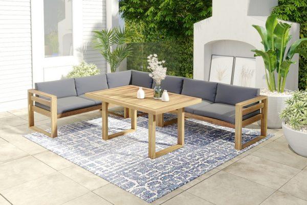 Фото-Booka dining set 2 Садовая мебель акация