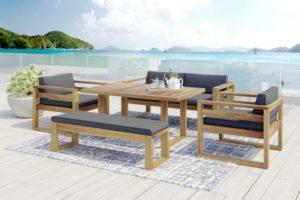 Фото-Booka dining set 3 Садовая мебель акация