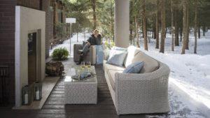 Фото-CALDERAN set 3 Плетеная мебель Skylinedesign
