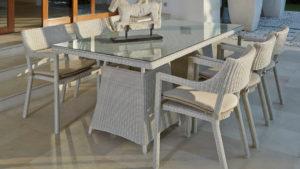 CALDERAN set 6 Плетеная мебель обеденная Skylinedesign