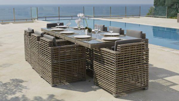 CASTRIES set 2 Плетеная мебель обеденная