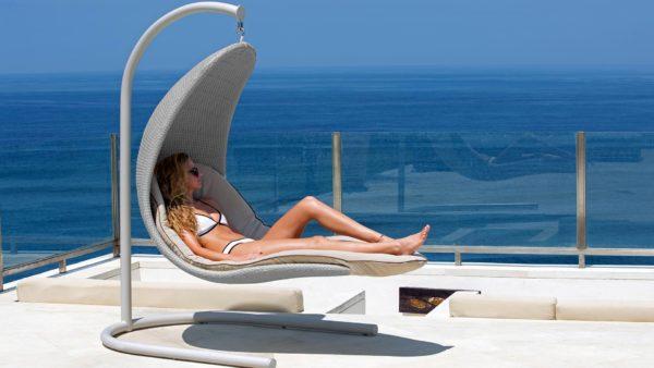 Christy beige Подвесное кресло качели - Skyline Design