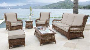 EBONY set 2 Плетеная мебель лаунж Skylinedesign