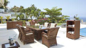 EBONY set 3 Плетеная мебель обеденная Skylinedesign