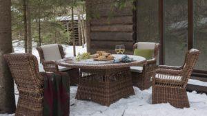 EBONY set 4 Плетеная мебель обеденная Skylinedesign