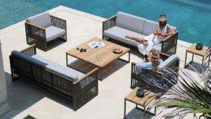 HORIZON set 4 Плетеная мебель из искусственного ротанга