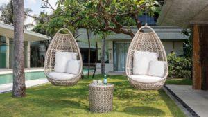 Подвесные кресла JOURNEY set 3 Плетеная мебель из искусственного ротанга Skylinedesign