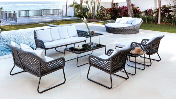 MOMA set 3 Плетеная мебель лаунж зона патио